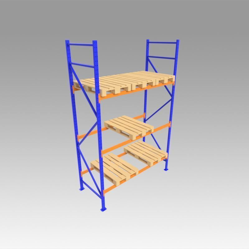 Shelves with Euro pallet