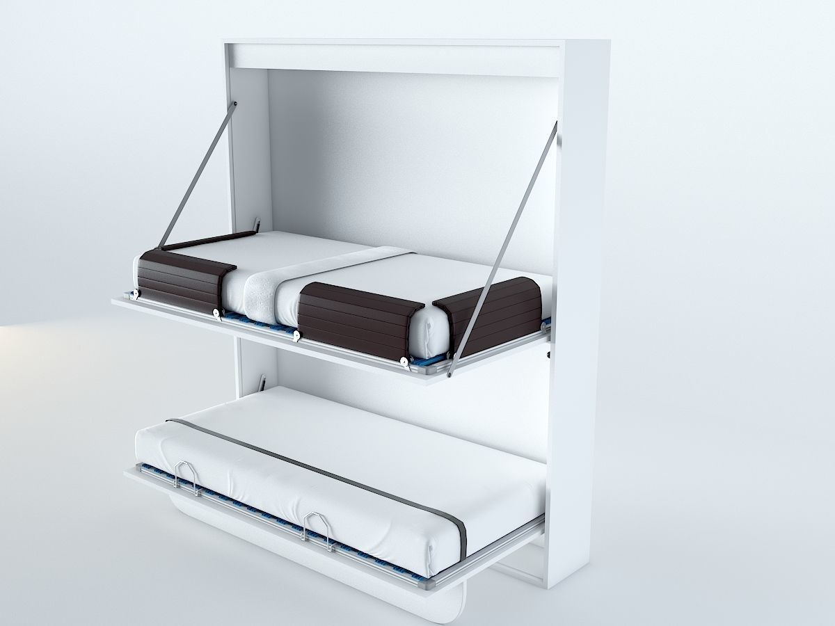 - 3D Asset Foldable Bunk Bed CGTrader