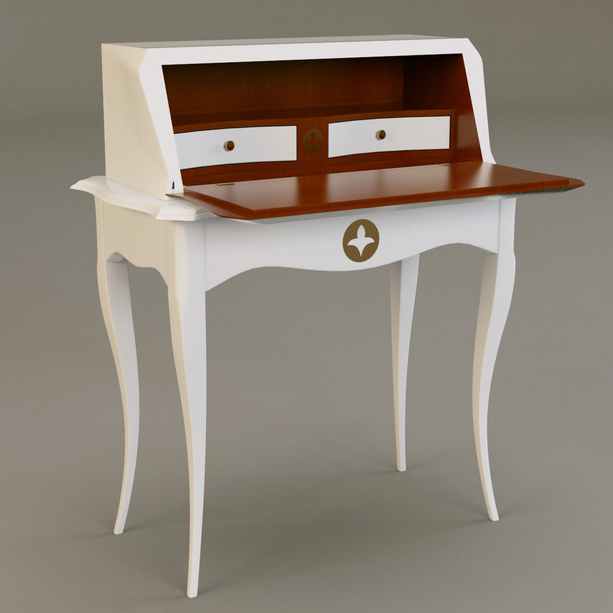grange pompadour bureau 3d model max obj 3ds fbx mtl. Black Bedroom Furniture Sets. Home Design Ideas