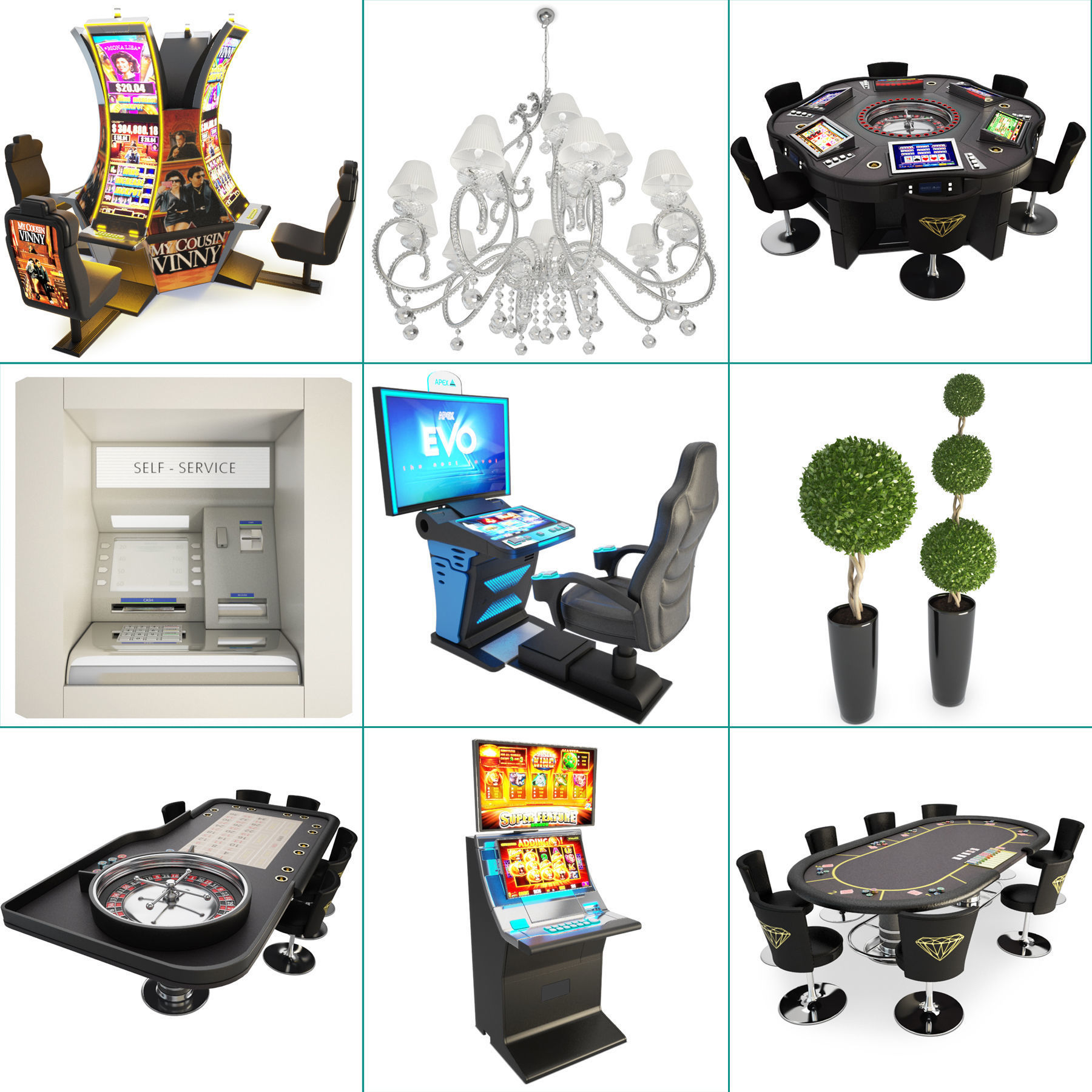Casino Machine And Lighting Collection