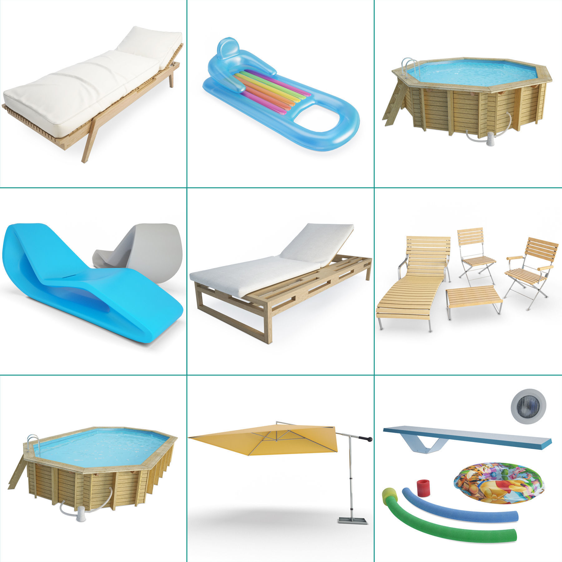 Swimming Pool and Accessories Collection