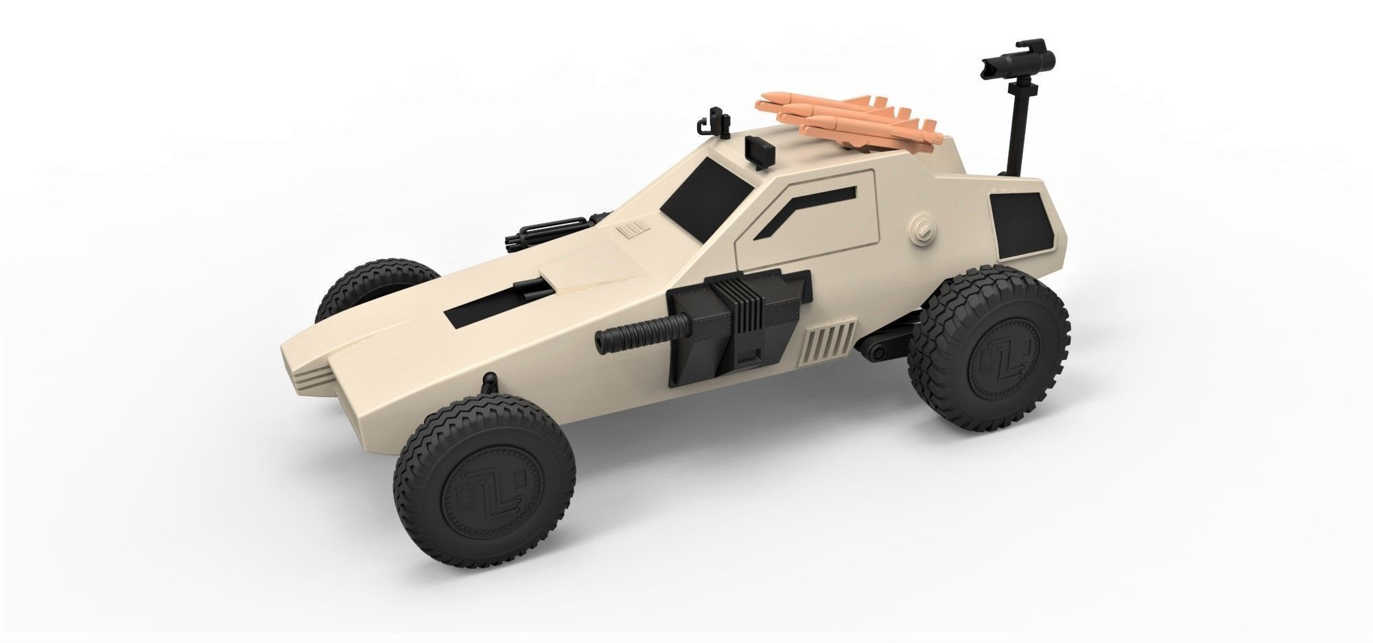 Diecast model Dune buggy from movie Megaforce 1982 Scale 1 to 24 | 3D Print  Model