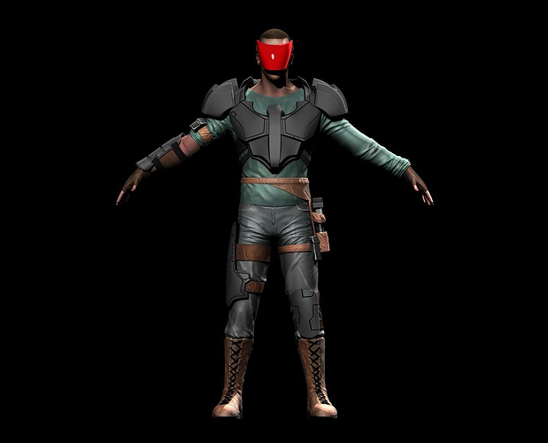 3d asset space mercenary cgtrader for Outer space 3d model