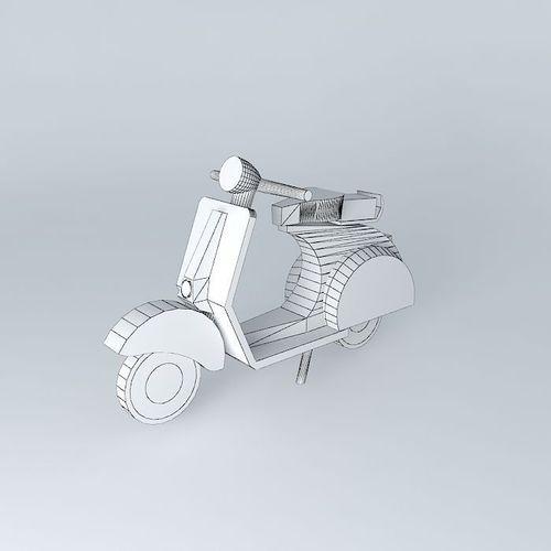 Moto vespa thumbnail decoration free 3d model max obj 3ds for Vespa decoration