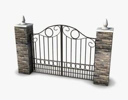 Wrought Iron Gate 3D asset