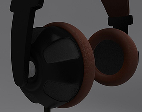 Headphone and Cord 3D model