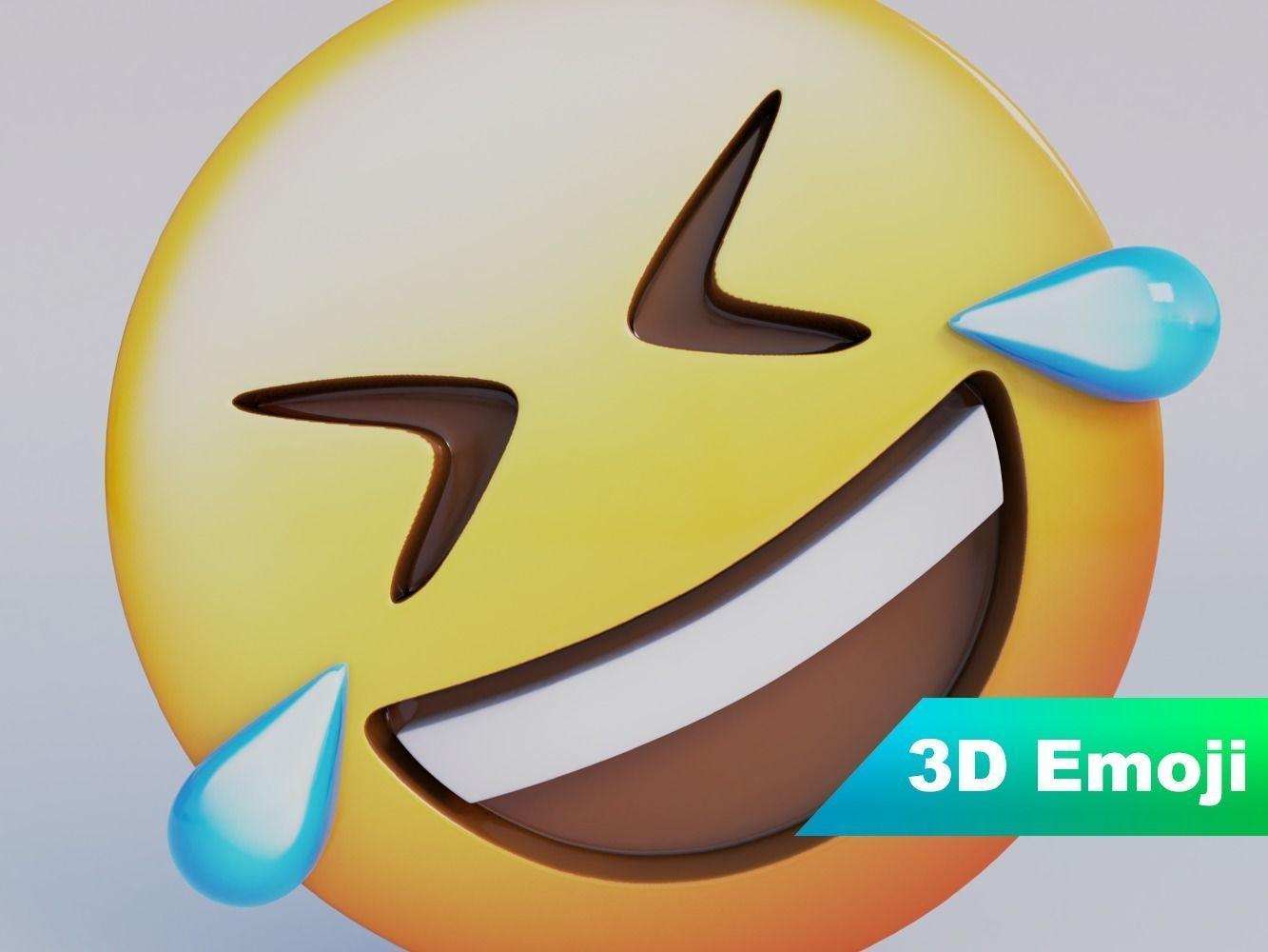 FLoor Laughing 3D Emoji low-poly