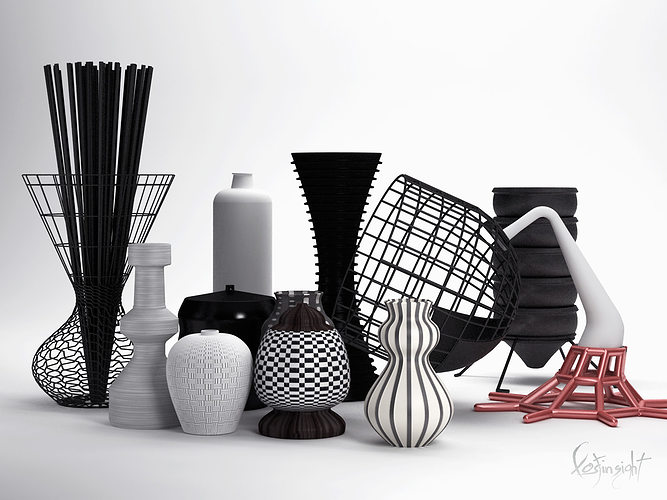 3d models vases collection 3d model max 1