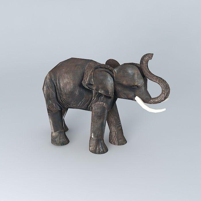 Elephant Model Houses The World 3d Model Max Obj 3ds Fbx Stl Dae 2