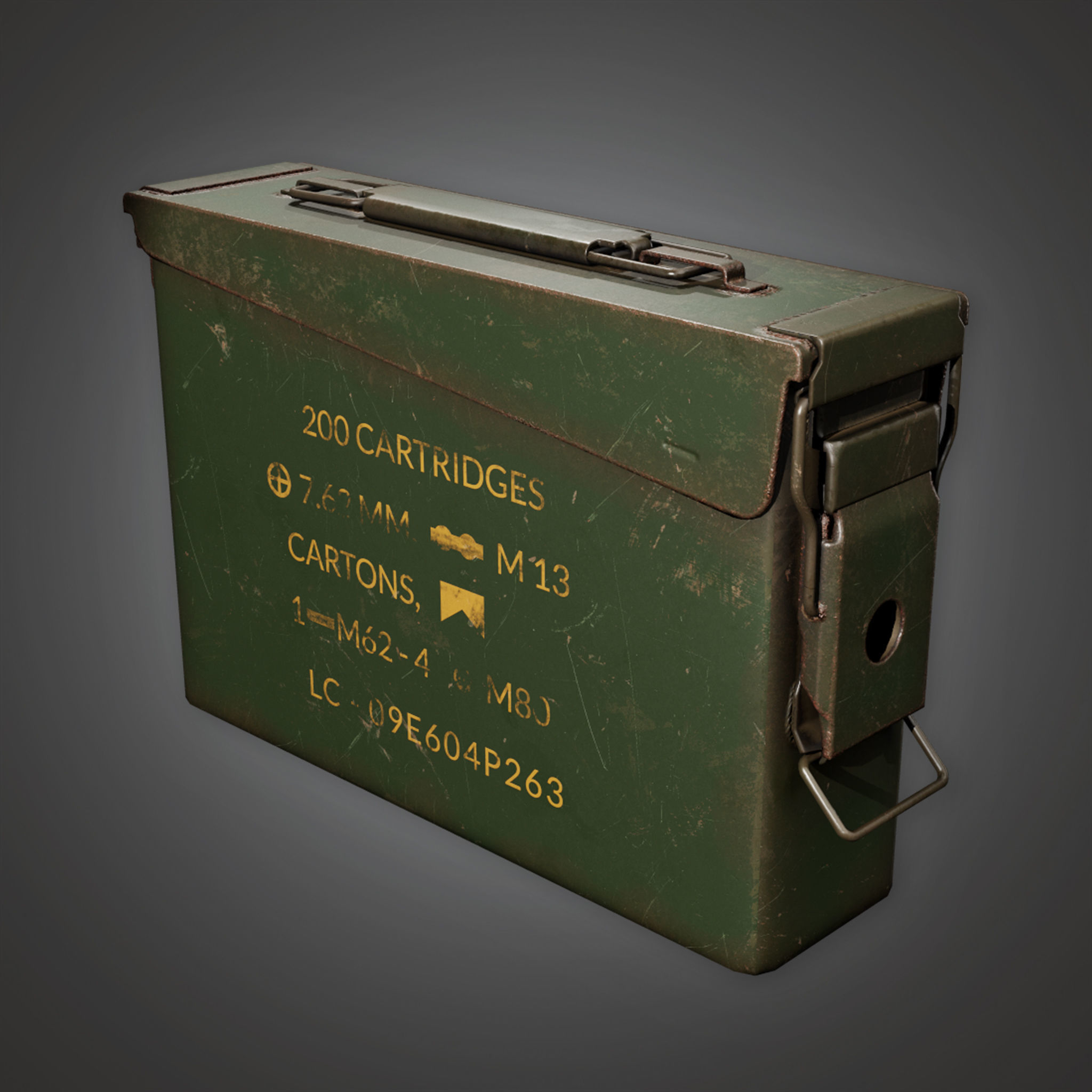 MLT - Ammo Container Box 01 - PBR Game Ready