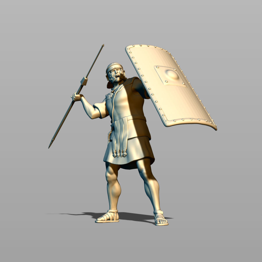 Roman legionary sweeps pilum