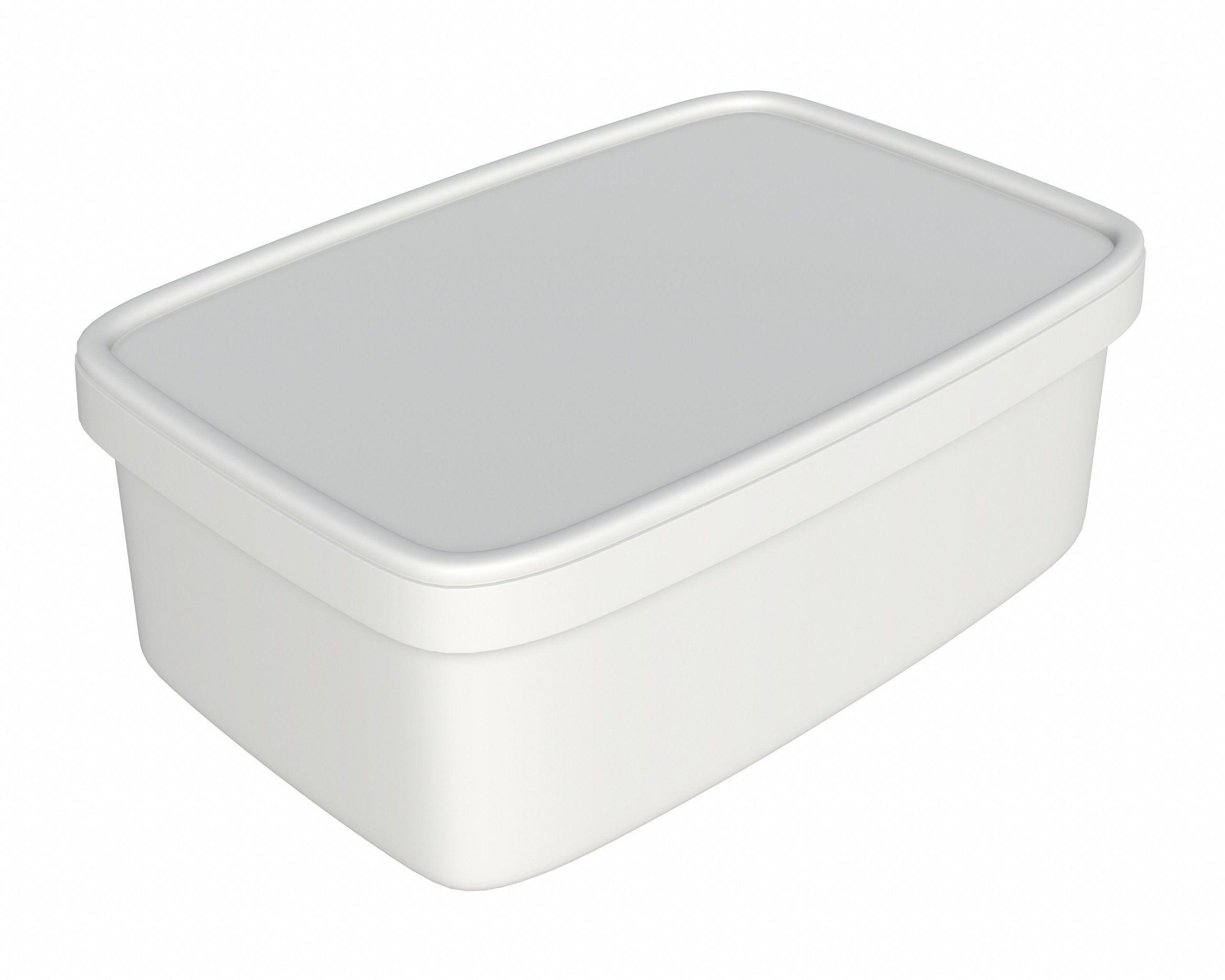 3d Model Ice Cream Dessert Plastic Package Box For Mockup