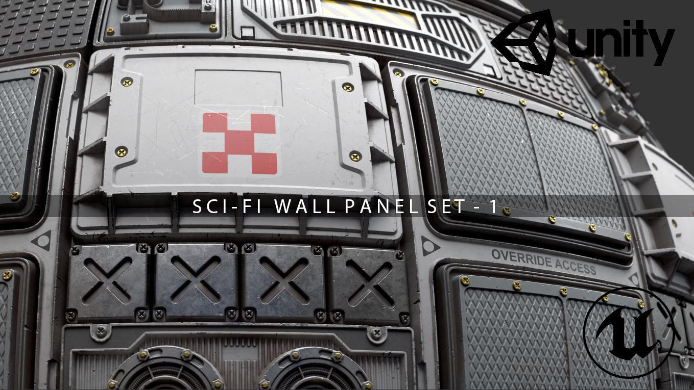 Scifi Wall Panel Texture Set 1