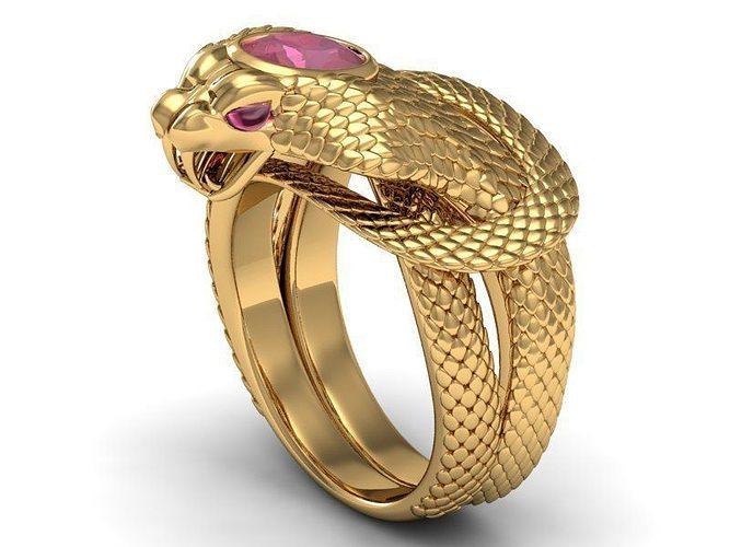 ring ruby cobra 3d model stl 3dm 1