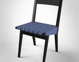 risom side chair 3d