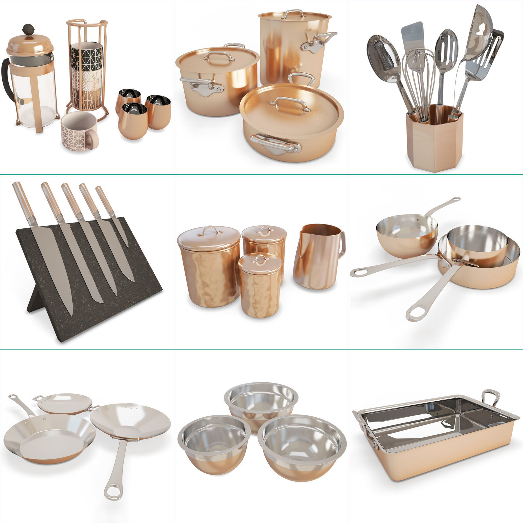 Copper Cooking Tools Collection