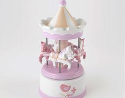 musical carousel lilirose amadeus 3d model