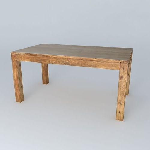 dining table stockholm maisons du monde 3d model max obj 3ds fbx stl skp. Black Bedroom Furniture Sets. Home Design Ideas