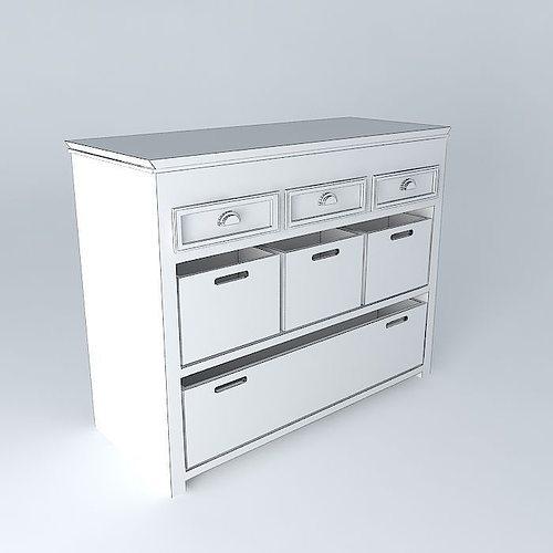 newport the dresser maisons du monde 3d model max obj 3ds fbx stl skp. Black Bedroom Furniture Sets. Home Design Ideas