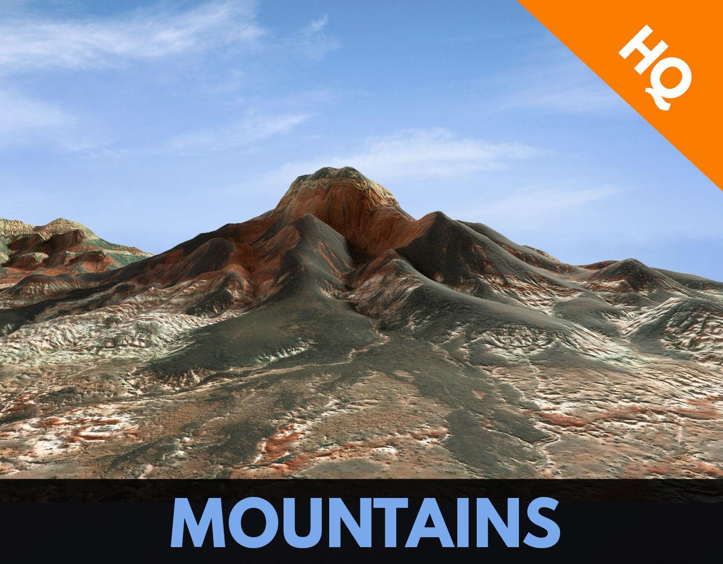 Mountains Surface Terrain Landscape Environment PBR 14