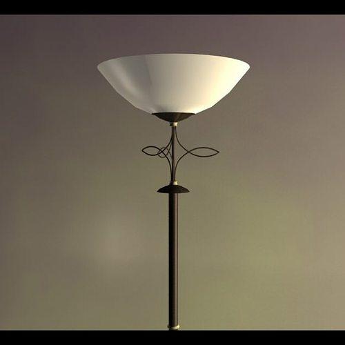 torchiere floor lamp 3d model low-poly max obj mtl 3ds fbx c4d 1