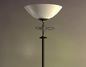 3D asset Torchiere Floor Lamp