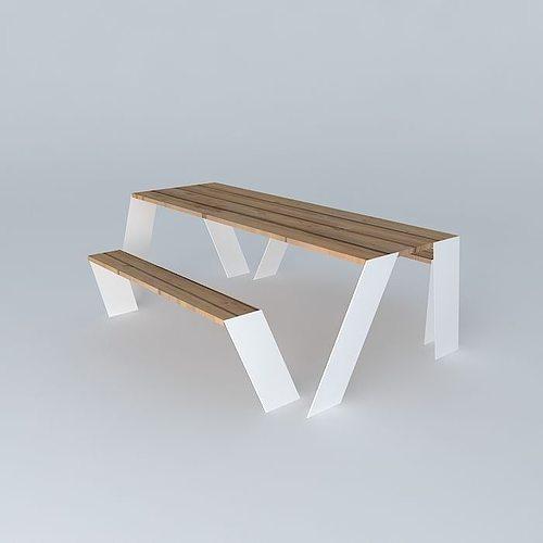 hopper table outdoor furniture seat from extremis 3d model max obj mtl 3ds fbx stl skp ... & Hopper table outdoor furniture seat from extremis free 3D model MAX ...