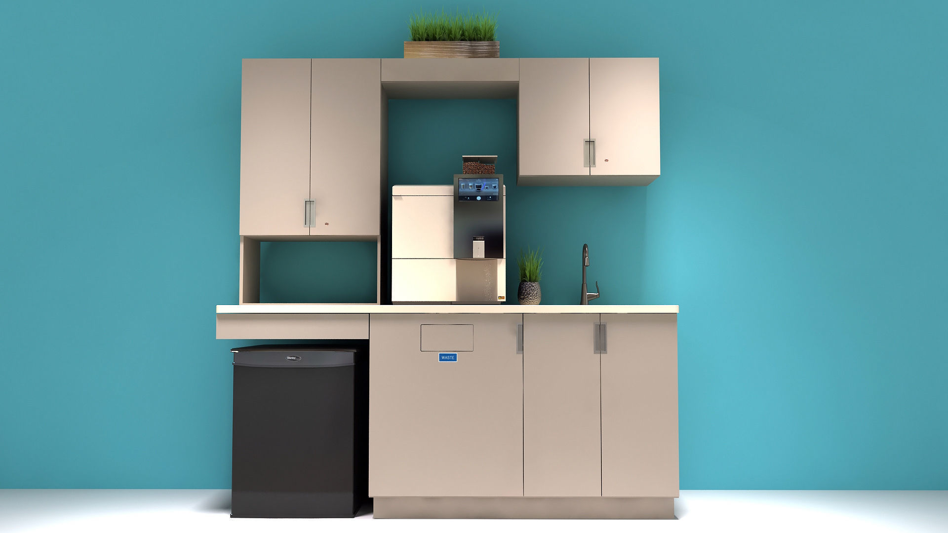 3d Asset Low Poly Office Kitchen Cabinets Cgtrader