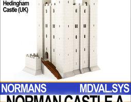 medieval norman castle a hedingham uk 3d model obj 3ds c4d vue