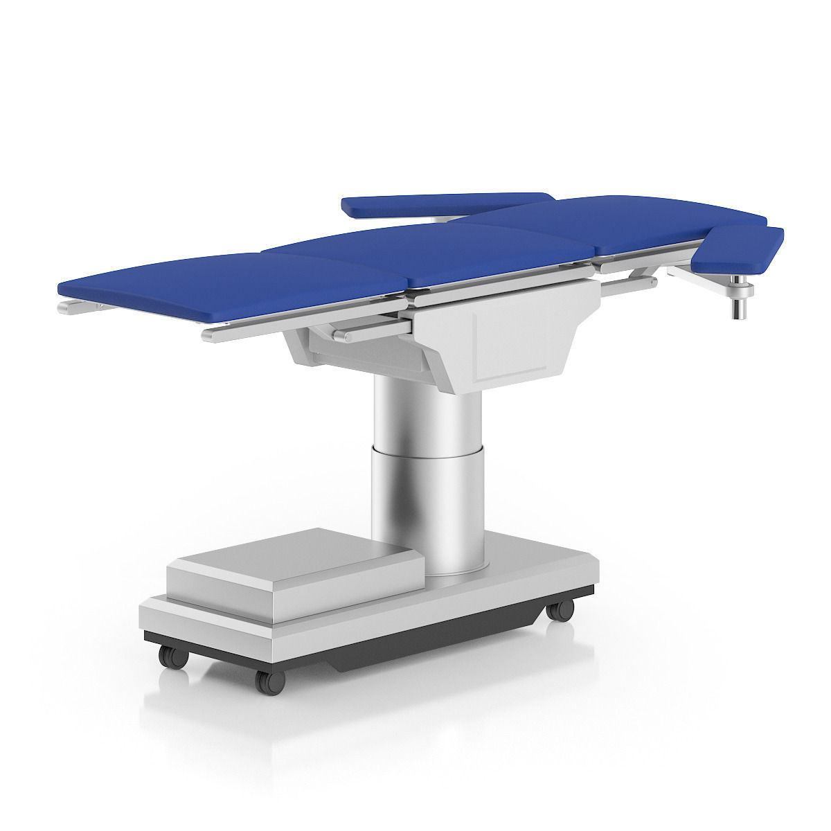 operating table 3d model operating table blue metal medical hospital