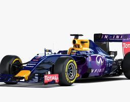 F1 RB11 Renault Formula One 2015 3D Model