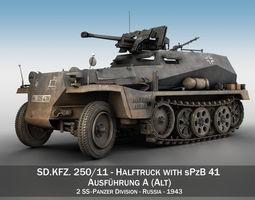 3D SD KFZ 250 Halftruck with sPzB 41 2 SS-PzDiv
