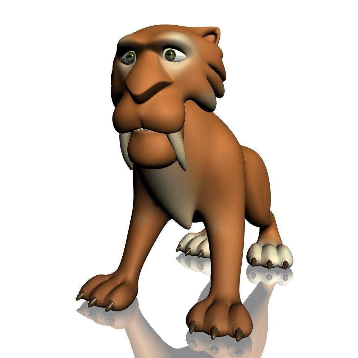 3d model cartoon sabertooth tiger rigged cgtrader