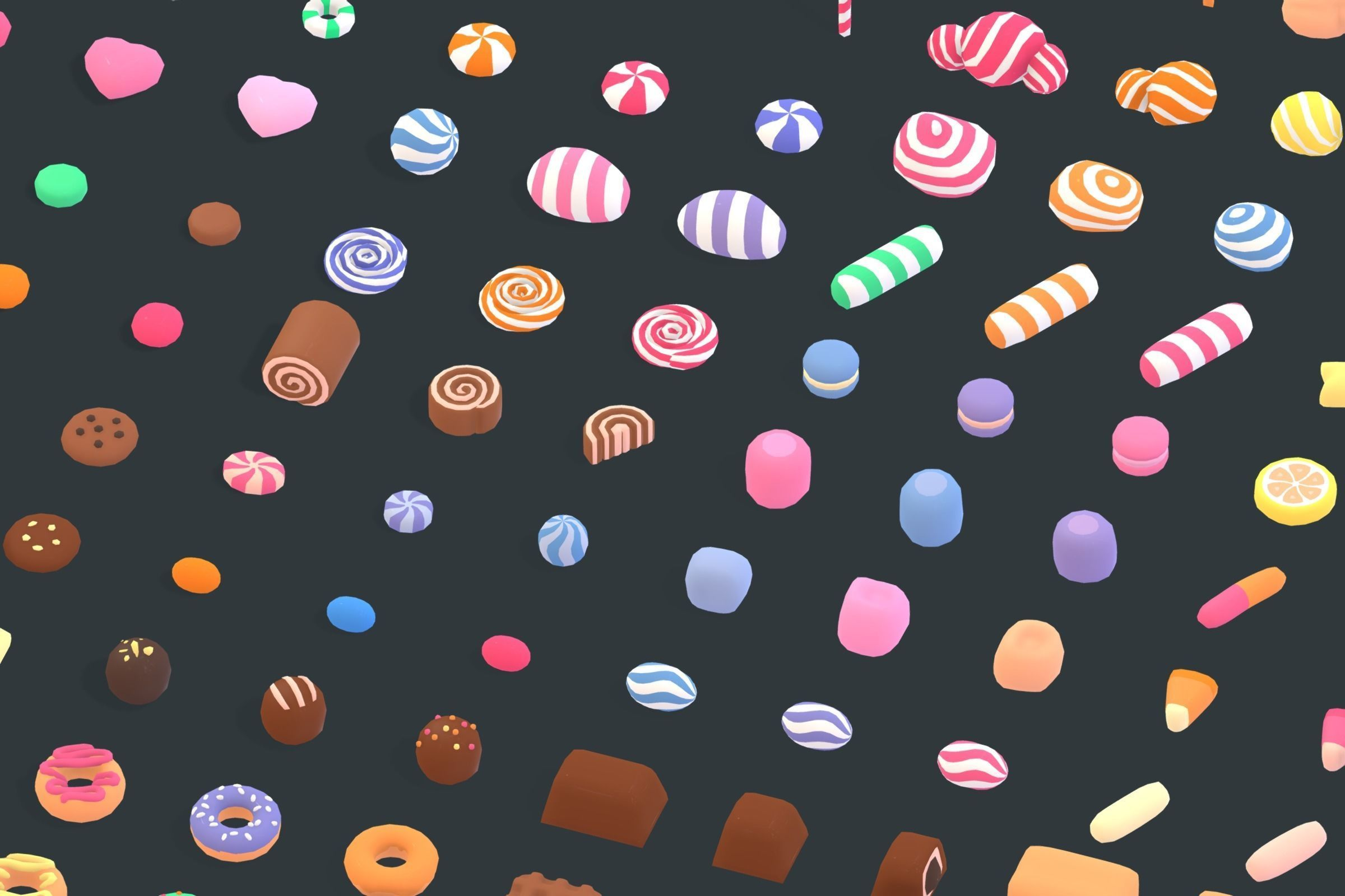 Candy Land - Animation Assets