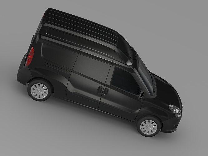 Opel Combo Lwb High Roof Cargo D 2017 Model Max Obj Mtl S Fbx C4d