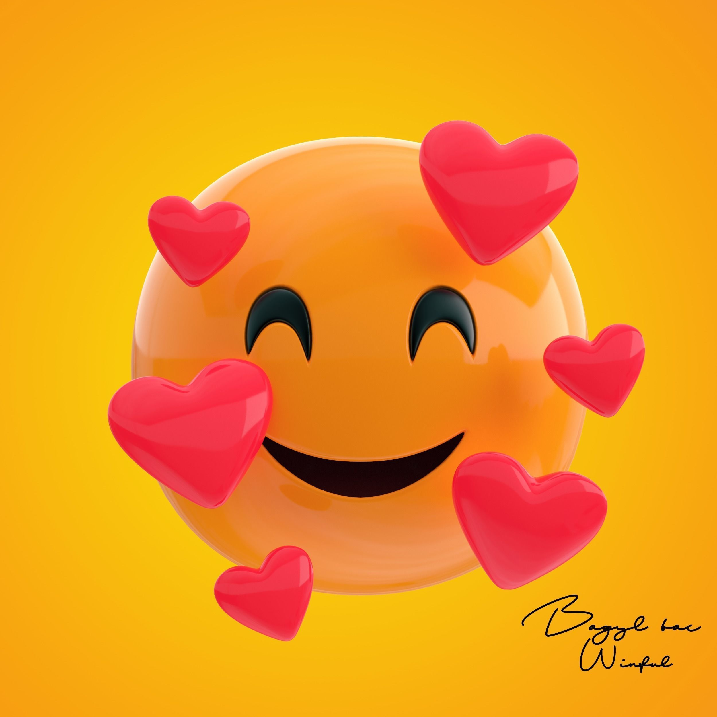 Emoji Smiling Face with hearts