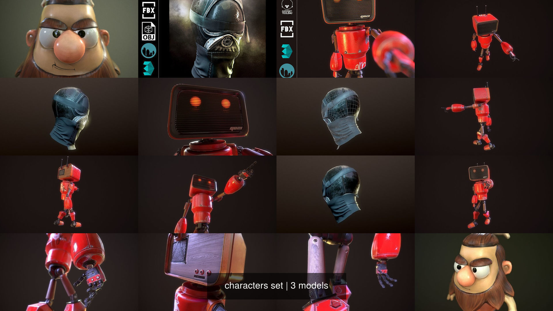 characters set | 3D Model Collection