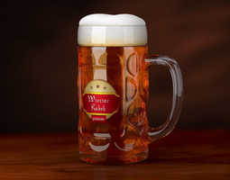 3D Patterned Beer Mug