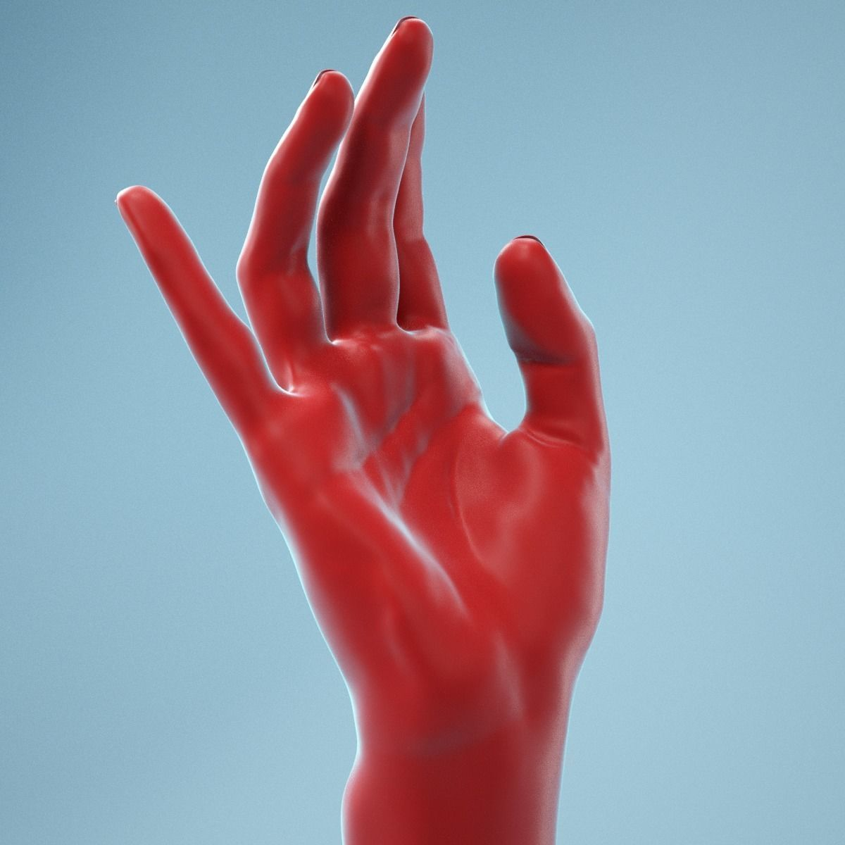 Elegant Relaxed Realistic Hand Model 01