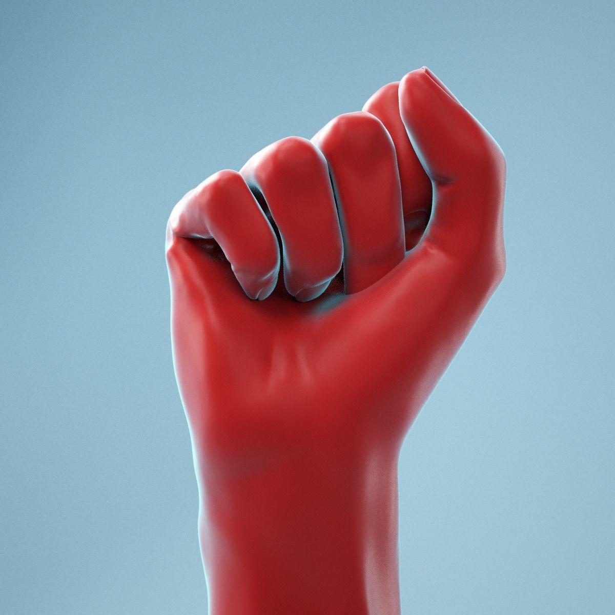 Fist Realistic Hand Model 03