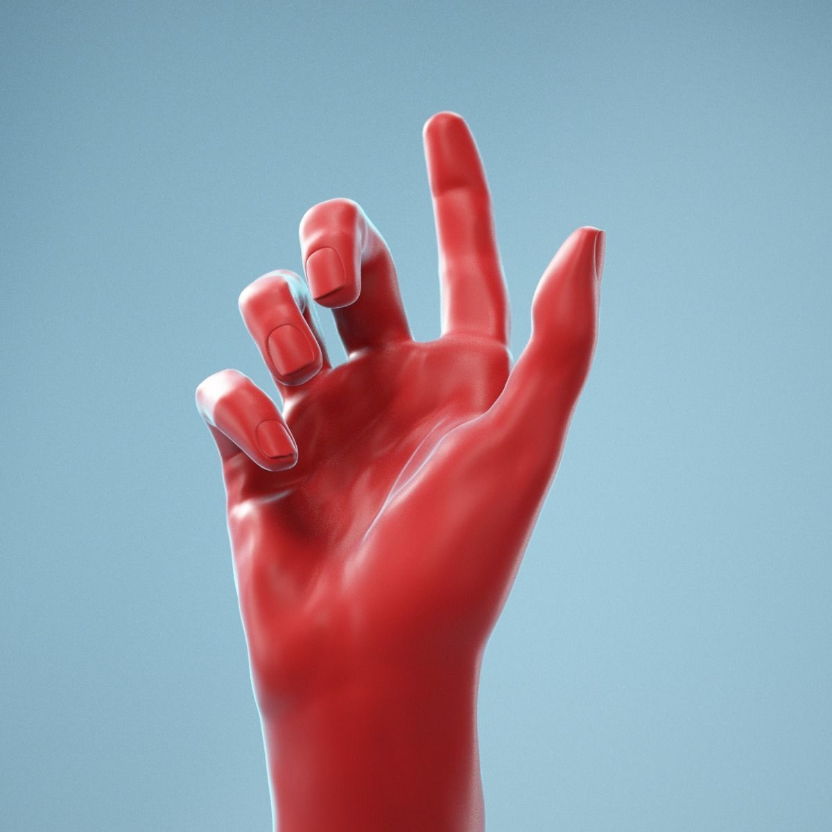 Index Out Realistic Hand Model 07