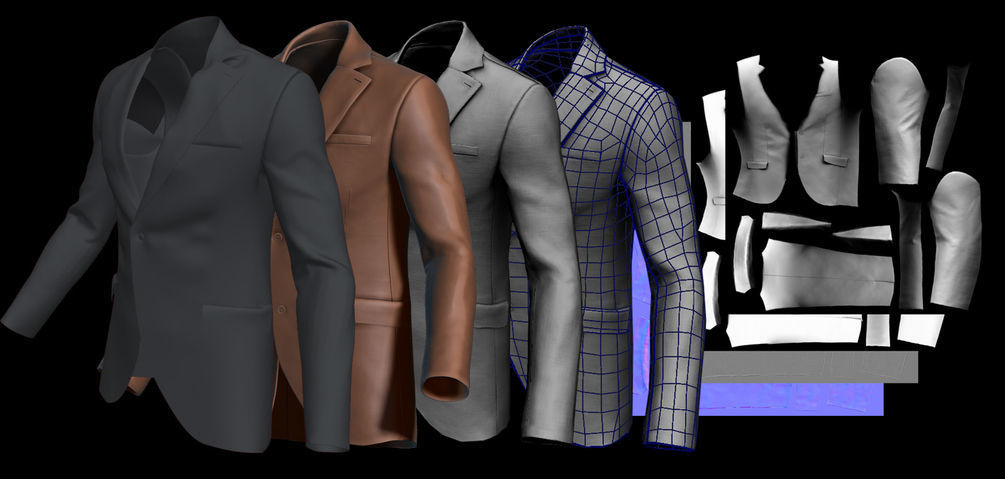 Suit for Marvelous Designer Video and File