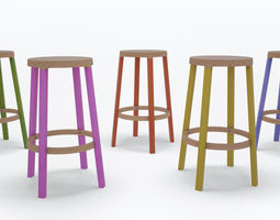 3d step high stool by established and sons