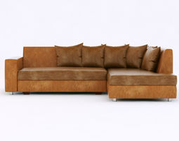 leather sofa 3D contemporary