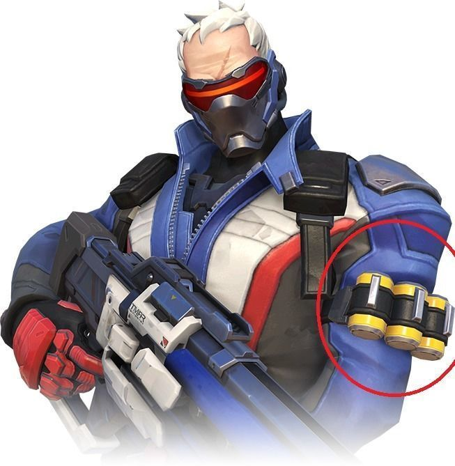 Soldier 76 Cosplay  grenades