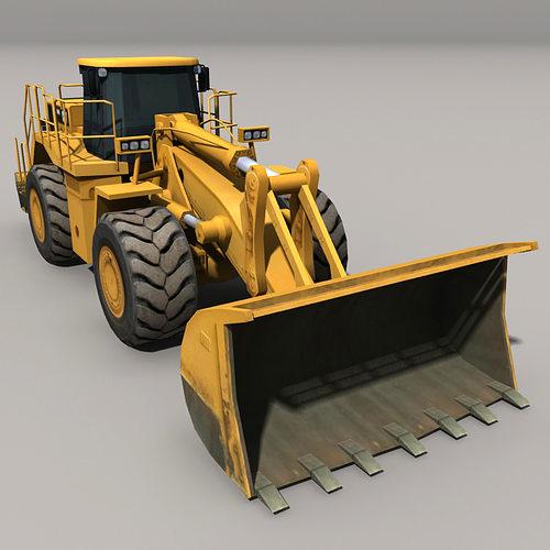 loader 3d model low-poly max obj mtl fbx 1