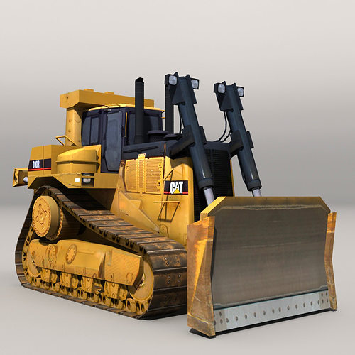 bulldozer 20217 3d model low-poly max obj fbx mtl 1