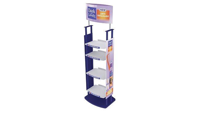 lotion display 3d model skp 1