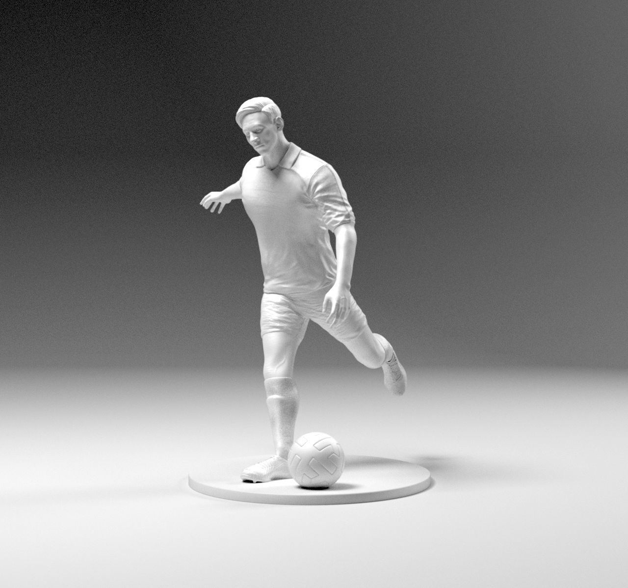 Footballer 03 Footstrike 06 Stl