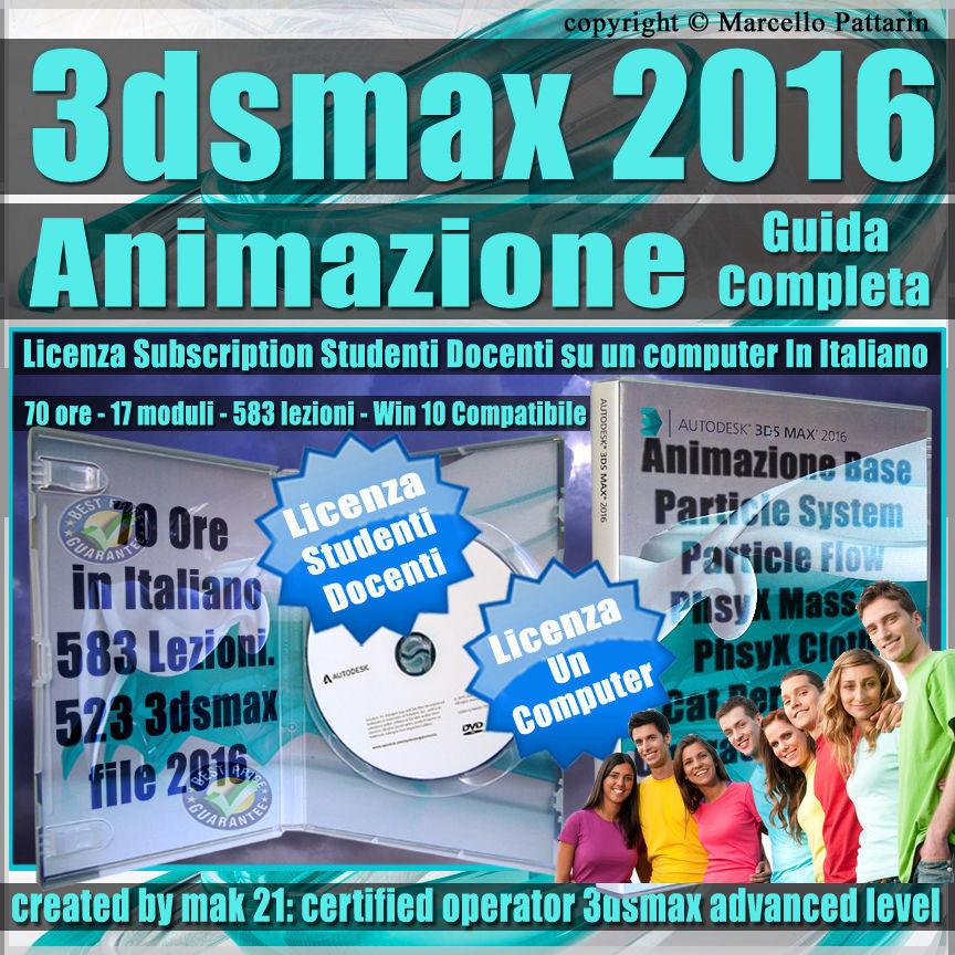 Corso 3ds max 2016 Animazione Guida Completa Studenti